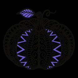 Ilustração de uma abóbora